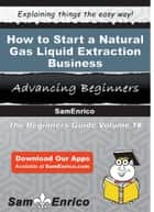 How to Start a Natural Gas Liquid Extraction Business ebook by Antonia Reynolds