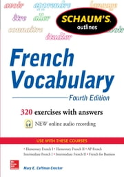 Schaum's Outline of French Vocabulary ebook by Mary Crocker