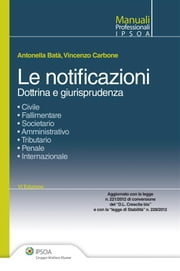 Le notificazioni ebook by Antonella Batà,Vincenzo Carbone