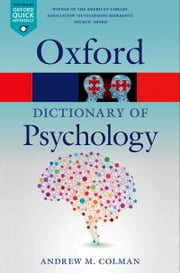 A Dictionary of Psychology ebook by Andrew M. Colman