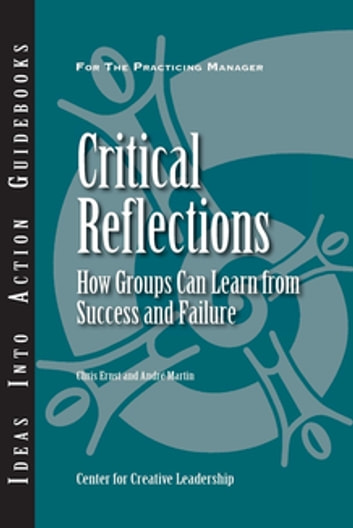 Critical Reflections: How Groups Can Learn From Success and Failure eBook by Ernst,Martin