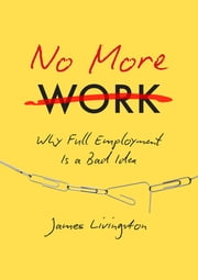 No More Work - Why Full Employment Is a Bad Idea ebook by James Livingston