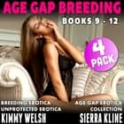 Age Gap Breeding Books 9 - 12 : 4-Pack (Breeding Erotica Unprotected Erotica Age Gap Erotica Collection) audiobook by Kimmy Welsh