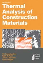 Handbook of Thermal Analysis of Construction Materials ebook by Ramachandran, V.S.
