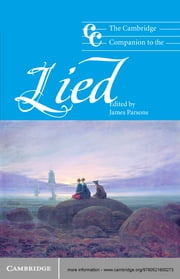 The Cambridge Companion to the Lied ebook by James Parsons