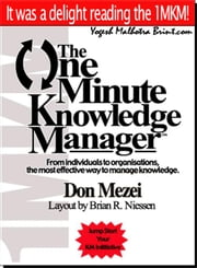 The One Minute Knowledge Manager ebook by Mezei, Don