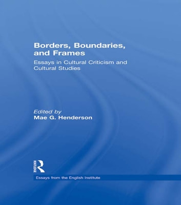 Borders, Boundaries, and Frames 電子書 by
