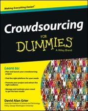 Crowdsourcing For Dummies ebook by David Alan Grier