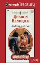 Mistress Material ebook by Sharon Kendrick
