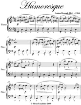 Humoresque Easy Piano Sheet Music ebook by Anton Dvorak