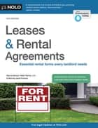 Leases & Rental Agreements ebook by Marcia Stewart, Janet Portman, Attorney
