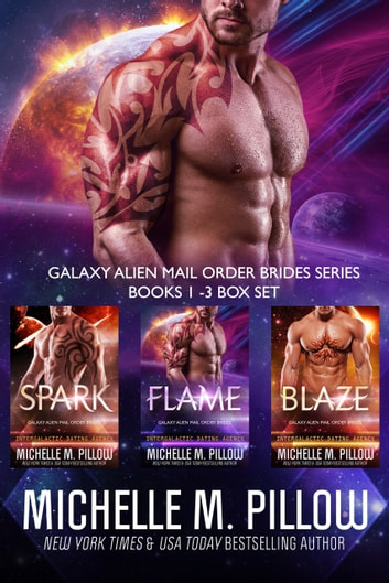 Galaxy Alien Mail Order Brides Books 1 - 3 Box Set - Qurilixen World Novellas: Intergalactic Dating Agency ebook by Michelle M. Pillow