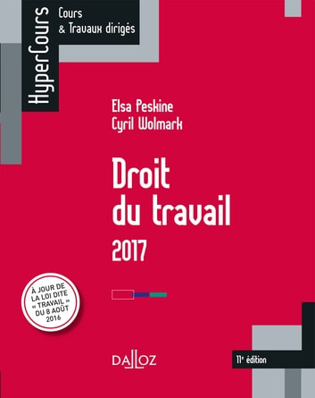 Droit du travail 2017 ebook by Cyril Wolmark,Elsa Peskine