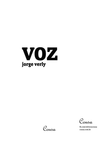 Voz ebook by Jorge Verly