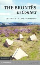 The Brontës in Context ebook by Marianne Thormählen