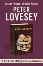 Remaindered ebook by Peter Lovesey