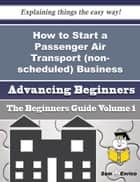 How to Start a Passenger Air Transport (non-scheduled) Business (Beginners Guide) - How to Start a Passenger Air Transport (non-scheduled) Business (Beginners Guide) ebook by Drema Booth