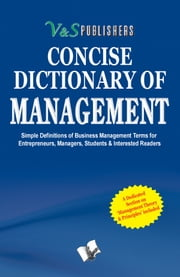 CONCISE DICTIONARY OF MANAGEMENT ebook by EDITORIAL BOARD