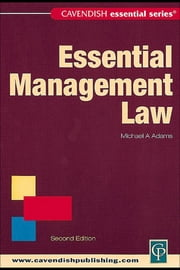 Essential Management Law ebook by Adams, Michael