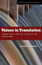Values in Translation ebook by Galit Sarfaty