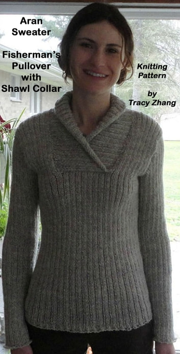 Aran sweater fisherman 39 s pullover with shawl collar for Aran crafts fisherman sweater