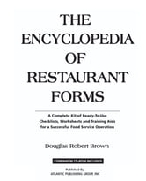 The Encyclopedia of Restaurant Forms: A Complete Kit of Ready-To-Use Checklists, Worksheets, and Training AIDS for a Successful Food Service Operation ebook by Brown, Douglas Robert