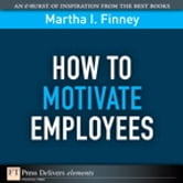 How to Motivate Employees ebook by Martha Finney