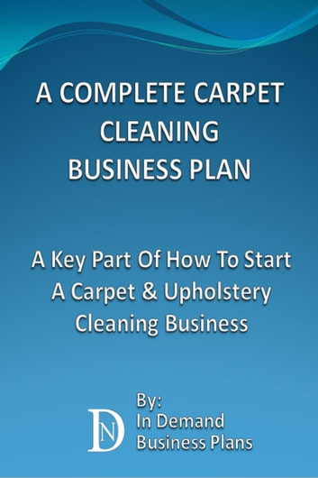 Carpet and upholstery cleaning business plan