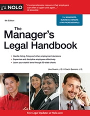 Manager's Legal Handbook,The ebook by Lisa Guerin, J.D.,Sachi Barreiro, J.D., J.D.