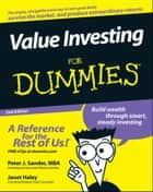 Value Investing For Dummies ebook by Peter J. Sander, Janet Haley