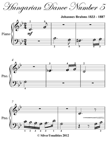 Hungarian dance number 5 beginner piano sheet music ebook by hungarian dance number 5 beginner piano sheet music ebook by johannes brahms fandeluxe Image collections