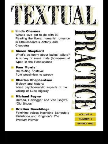 Textual Practice - Volume 6, Issue 1 ebook by