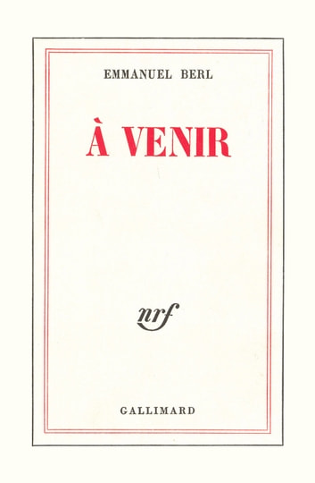 À venir eBook by Emmanuel Berl