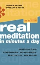 Real Meditation in Minutes a Day ebook by Joseph Arpaia,Lobsang Rapgay,His Holiness the Dalai Lama