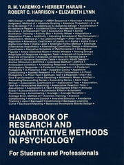 Handbook of Research and Quantitative Methods in Psychology - For Students and Professionals ebook by R.M. Yaremko,Herbert Harari,Robert C. Harrison,Elizabeth Lynn