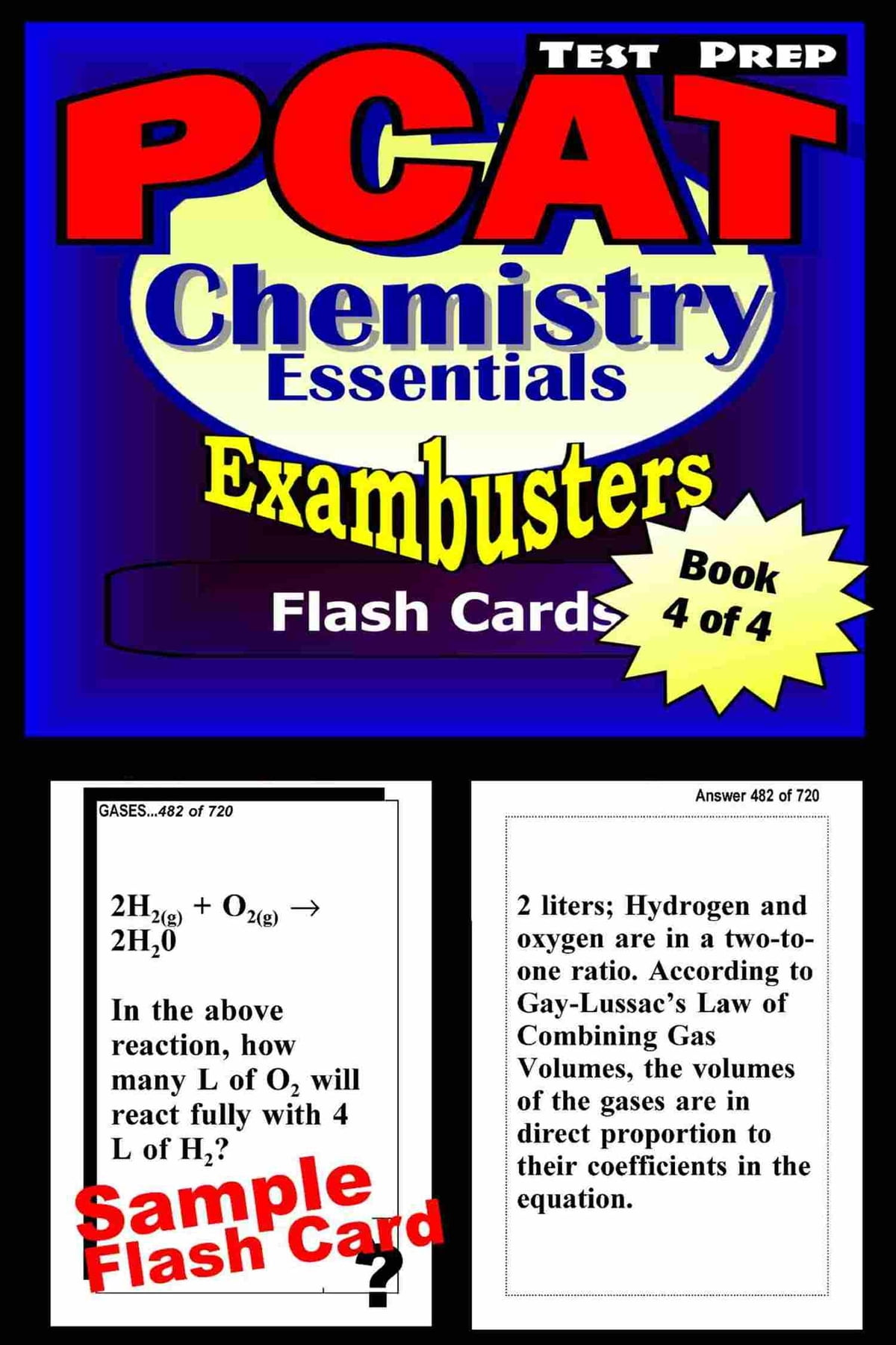 PCAT Test Prep Chemistry Review--Exambusters Flash Cards--Workbook ...