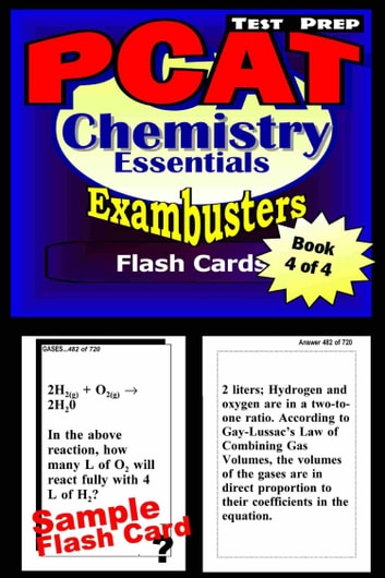 PCAT Test Prep Chemistry Review--Exambusters Flash Cards--Workbook 4 of 4 - PCAT Exam Study Guide ebook by PCAT Exambusters