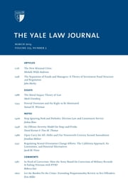 Yale Law Journal: Volume 123, Number 5 - March 2014 ebook by Yale Law Journal