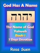 God Has A Name: The Name of God Yahweh Week 1 Devotions ebook by Rosa Suen