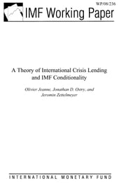 A Theory of International Crisis Lending and IMF Conditionality ebook by Jeanne, Olivier