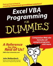 Excel VBA Programming For Dummies ebook by John Walkenbach