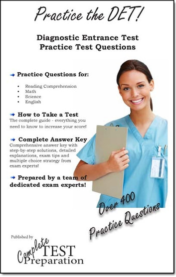 Practice the det diagnostic entrance test study guide and practice practice the det diagnostic entrance test study guide and practice test questions ebook by complete fandeluxe Gallery