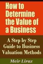 How to Determine the Value of a Business: A Step by Step Guide to Business Valuation Methods ebook by Meir Liraz