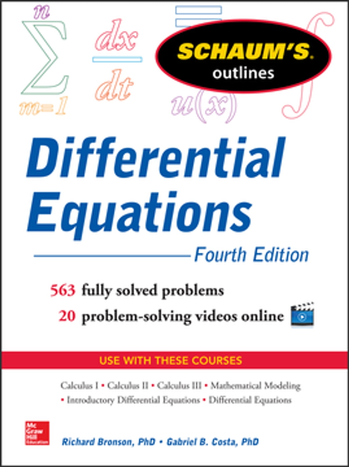 Schaum's Outline of Differential Equations, 4th Edition ebook by Richard  Bronson - Rakuten Kobo