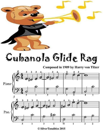 Cubanola Glide Rag - Easiest Piano Sheet Music Junior Edition ebook by Silver Tonalities