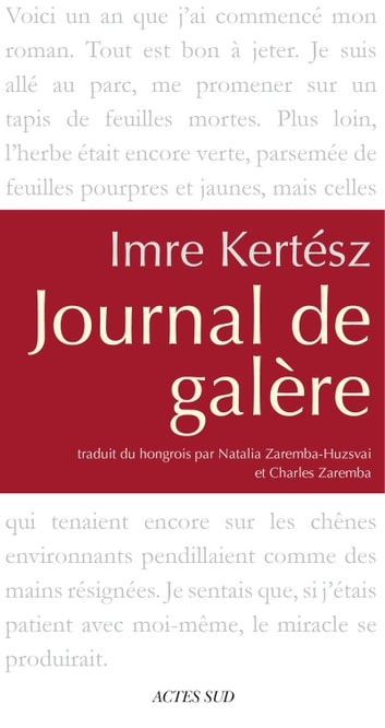 Journal de galère ebook by Imre Kertész
