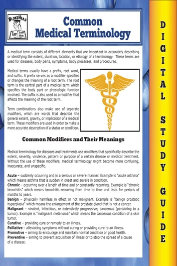 common medical terminology blokehead easy study guide ebook by rh kobo com No Study Guide Jumpmaster Study Guide Student