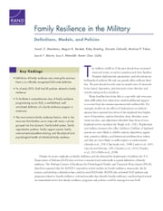 Family Resilience in the Military - Definitions, Models, and Policies ebook by Sarah O. Meadows,Megan K. Beckett,Kirby Bowling,Daniela Golinelli,Michael P. Fisher,Laurie T. Martin,Lisa S. Meredith,Karen Chan Osilla