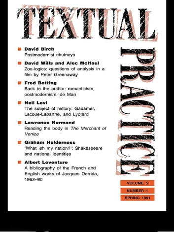 Textual Practice - Volume 5, Issue 1 ebook by