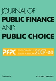 Journal of public Finance and Public Choice n. 2-3/2007 ebook by Aa.Vv.,Domenico da Empoli